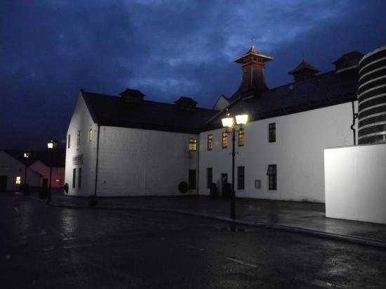 Dalwhinnie Distillery at night