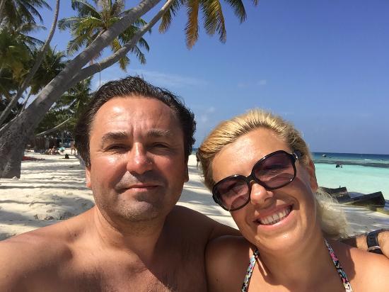 с моей супругой на пляже