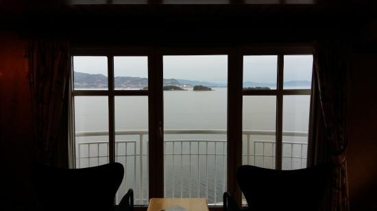 Solstrand Hotel & Bad: Vue sur le fjord