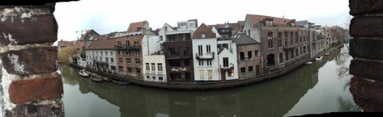 Ghent River Hotel: The view from our room.