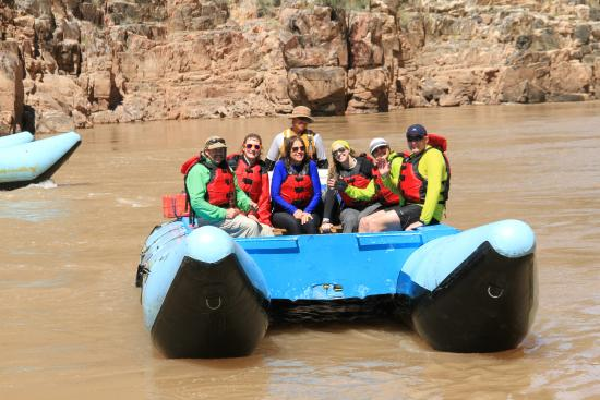Hualapai River Runners: Having just come through a class 5-7 rapid, we are still smiling!