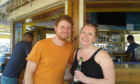 Oyster Pond, St Marteen/St. Martin: Having a cool drink
