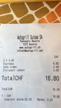 Canton of Vaud, Sveits: Restoroute de Bavois