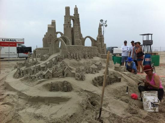 Port Aransas, TX: Just a hint of the work at the Texas Sand Fest.