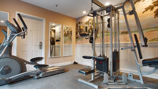 Stay active in our fitness center with a variety of equipment.