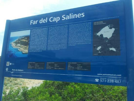 Ses Salines, Spain: indicador con esplicacion