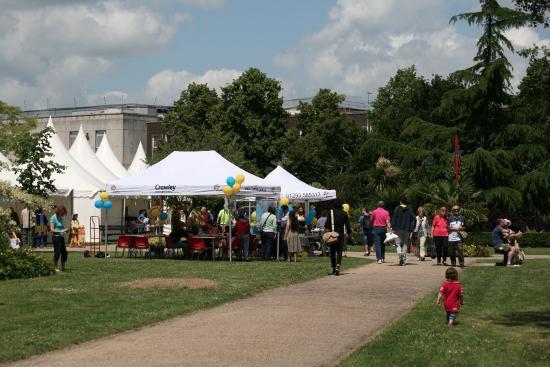 Crawley Memorial Gardens: Crawley Festival 'Mainstage' every year in June.