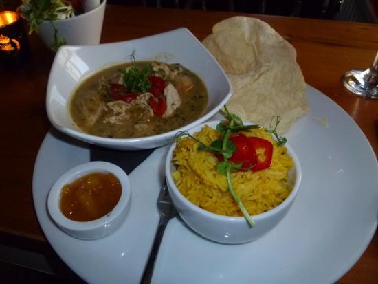 Νιούπορτ, UK: Thai green curry