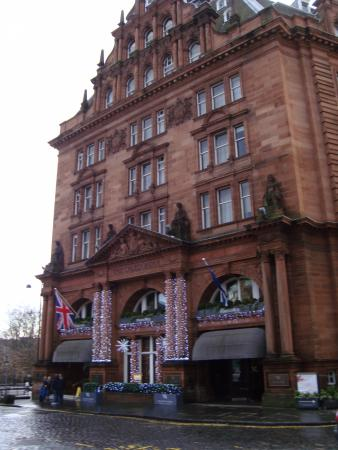 Hotel At Christmas Picture Of Waldorf Astoria Edinburgh The