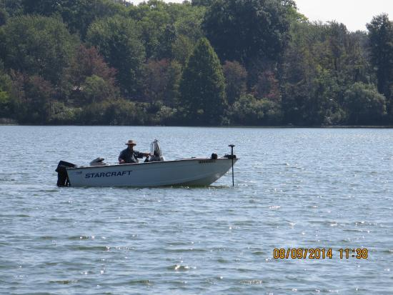 Kendallville, IN: People fishing