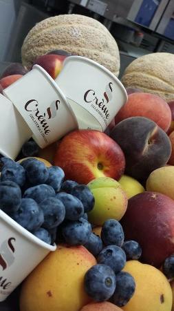 Province of Siena, Italia: Frutta fresca per gelati al meglio!