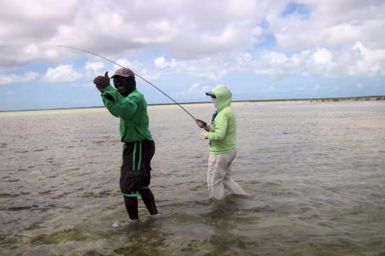 Остров Аклинз: Guests put fishing