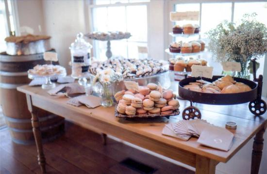 Dessert bar at vintage wedding - Picture of Toot Sweets Bakery Cafe ...