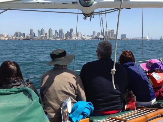 Sail Jada Charters: San Diego skyline from the Jada.