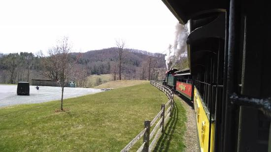 Blowing Rock, NC: View of the train, from the train.