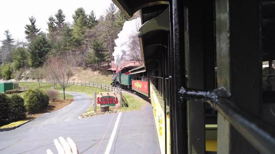 Blowing Rock, NC: View of the train, from the train, take 2.