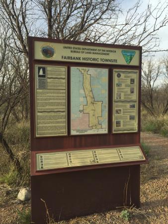 Hereford, AZ: Fairbanks Historic Town info board.