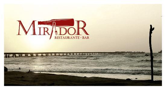 Mirador Restaurante Bar: Foto muelle con logo de mirador