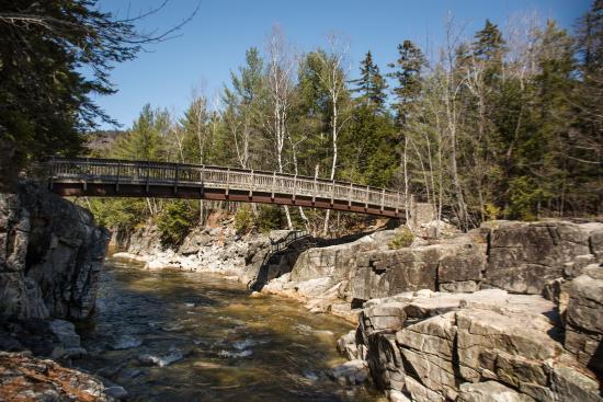 Bartlett, New Hampshire: Foot Bridge Across the Swift River