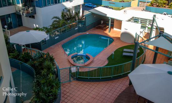Key Largo Holiday Apartments: Pool,Spa,Sauna,Library and BBQ area
