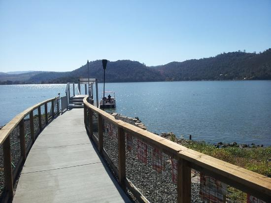 Clearlake, CA: view of the pier and dock
