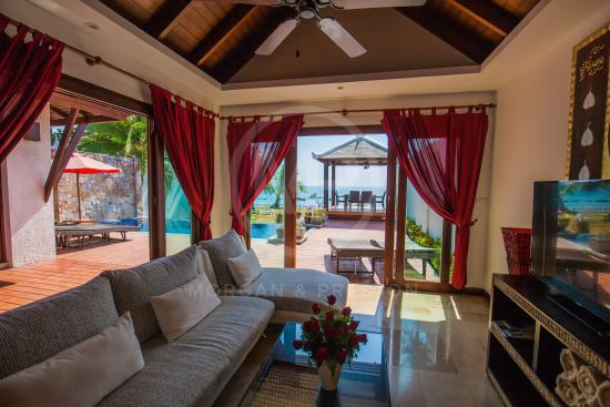 Thai Island Dream Estate: Living Area Looking Onto The Beach