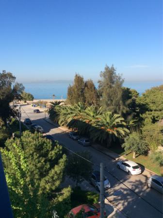 Palmyra Beach Hotel: Chambre famille avec 2 chambres , vue du balcon....super