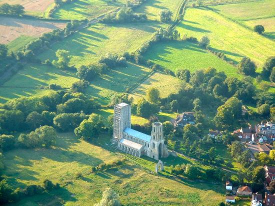 Wymondham Abbey is just one of the sights to look out for on a hot air balloon ride in Norfolk.