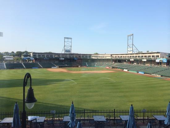 this is the view from our room into the fisher cats stadium rh tripadvisor com