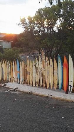 Prevelly, Austrália: Boards at sunset 2