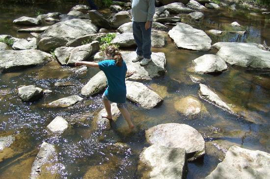 Seagrove, Carolina del Norte: maneuvering the rocks