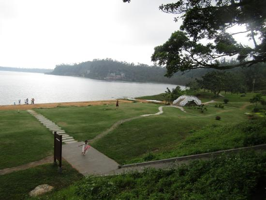 Huguangyan Scenic Area: Photo taken inside one of two entrances in the park.