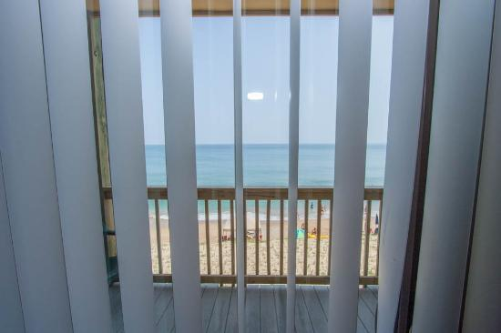 The Golden Strand: sliding glass door