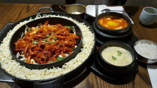 Kobi Korean Bbq Restaurant The Steam Egg Comes With The Chicken And Cheese