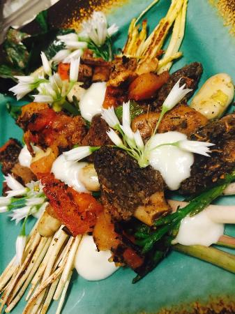 Cedar's Cafe: This is the Foraged Salad, with white asparagus and ramps!