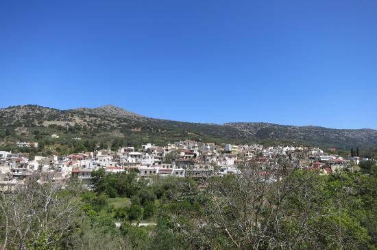 Lasithi Prefecture, Yunanistan: вид на плато с другй стороны