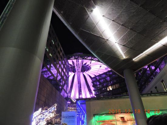 Cor Berlin o domo q muda de cor lilás picture of sony center berlin