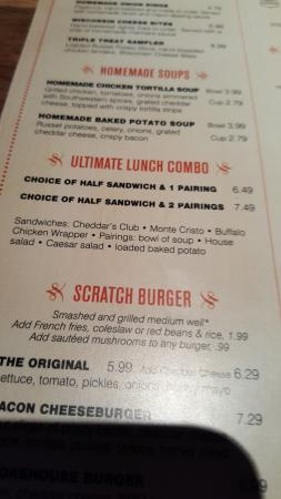 ultimate lunch menu picture of cheddar s scratch kitchen amarillo rh tripadvisor co nz