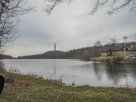 Sussex, NJ: Obelisk from Marcia Lake