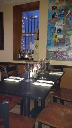 The Corner Bistro and Wine Bar: The table next to us.