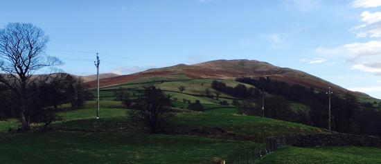Sedbergh, UK: View from the bedroom window.