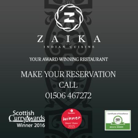 Zaika Livingston: Reservations 01506467272