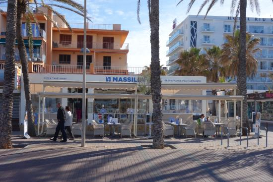 Massilia: Outside view from beach