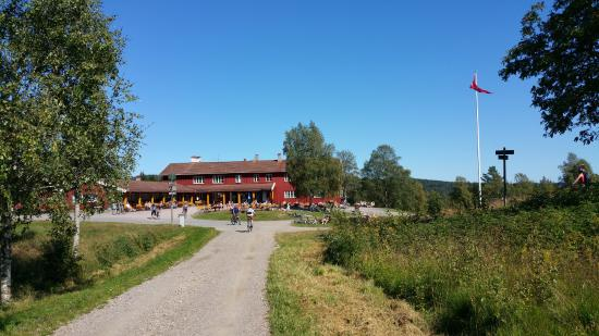 Oslomarka: Ullevålseter about 5 km from Sognsvann subway station. Here, you can buy something to eat and dr