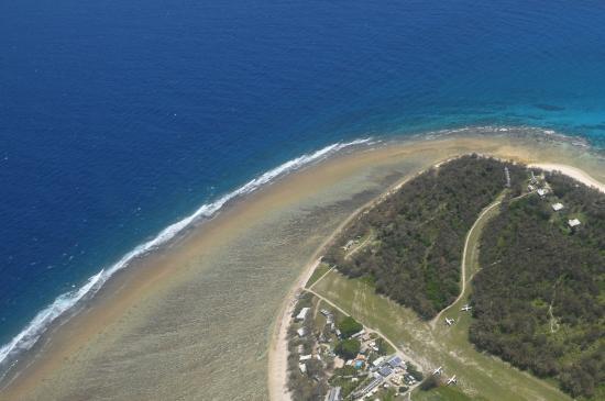 Lady Elliot Island, Australia: Aerial view on the flight in