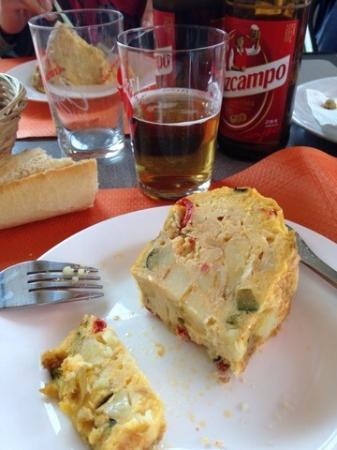tapas tortilla chorizo