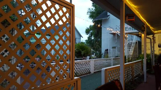 DeLand, FL: View from one of outdoor tables.
