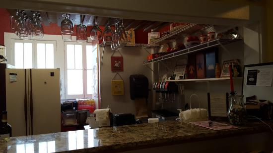 DeLand, FL: Entry and indoor bar area.