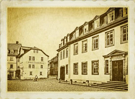 Hotel Pension am Goethehaus: Unmittelbar neben dem Hotel befindet sich das Goethehaus! Ein Besuch empfiehlt sich !