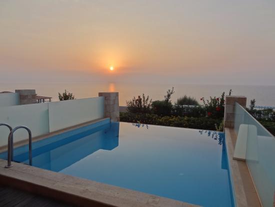 Lachania, Grecia: 6:30 Uhr morgens ,Privat Pool